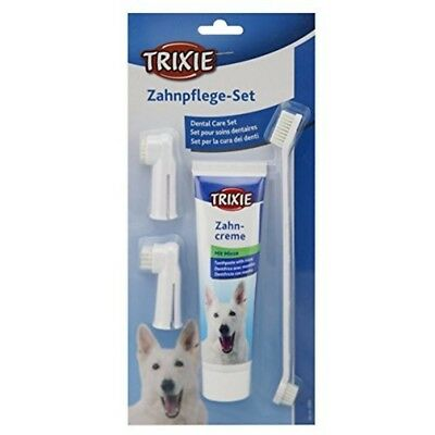 Trixie Dental Care Kit For Dogs - Dog 2561 Mint Toothpaste Toothbrush Finger
