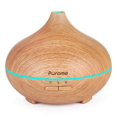 Essential Oil Diffuser Aromatherapy 150 ml Wood Grain Ultrasonic 7 LED Colors