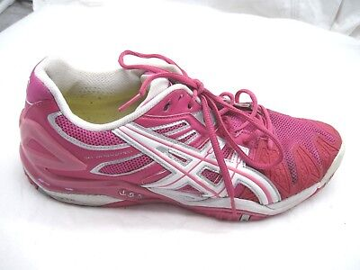 Asics Mens 11.5M Womens 13.5 Gel-Resolution 5 pink tennis running shoes E350Y