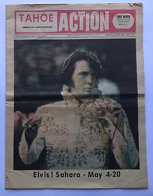 Elvis Presley-Original 100% Genuine Tahoe Newspaper- Very Rare