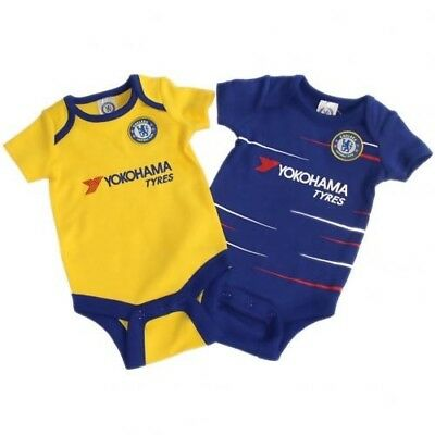 Chelsea Football Club Crest 2 Pack Baby Bodysuit TS Size 12-18 Months