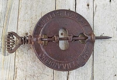 "Dieters Foundry Cherryville Pa. Reversible 6"" Stove Pipe Damper Flue Cover"
