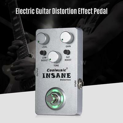 Mini Electric Guitar Distortion Effect Pedal True Bypass Silver Free Ship X5A6