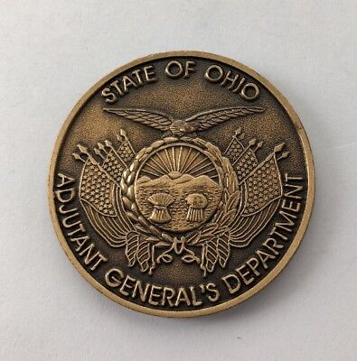 US Army Ohio BG Kambic Assistant Adjutant General Challenge Coin B10
