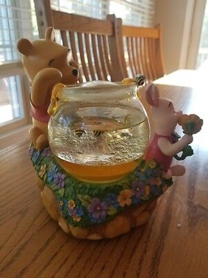 Collectible Pooh and Piglet with Bees Disney Snow Globe in Box