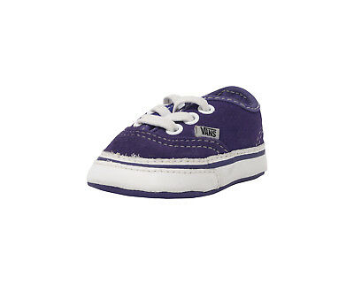 5af09764f5db92 VANS Authentic Liberty True White Suede Lace Up New Born Baby Infant Crib  Shoes