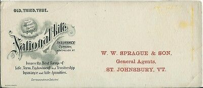 National Life Insurance Montpelier Vermont Early 1900s Advertising Mailer Card
