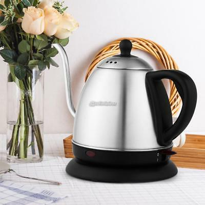 1L Electric Tea Kettle Hot Water Stainless Steel Cordless Pot Fast Boiler Home