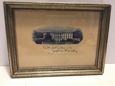Jacqueline Kennedy signed White House card