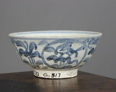 Shipwreck Vung Tau Chinese Cargo Provincial Blue and White Flaring Bowl c1690