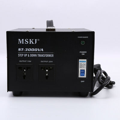 3000W Step Up Stepdown Voltage Transformer UK-US 220v to 110v Converter Plug