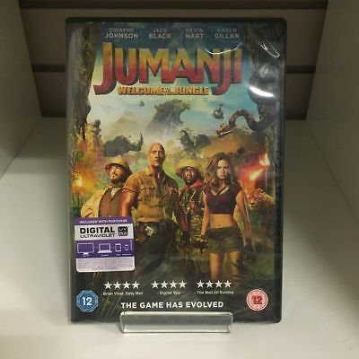 Jumanji Welcome To The Jungle DVD - New and Sealed Fast and Free Delivery