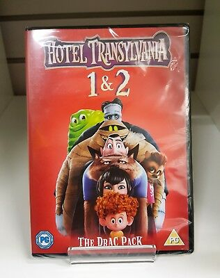 Hotel Transylvania 1 & 2 DOUBLE PACK DVD - New and Sealed Fast and Free Dispatch