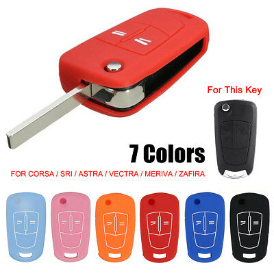 2 Buttons Silicone Remote Key Case Cover For Corsa D Astra Vectra VAUXHALL OPEL