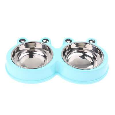 Stainless Steel Plastic Pet Bowls Puppy Food Water Dishing Feeder Fountains