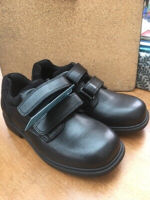 New Marks & Spencer Boys Leather Black Velcro School Shoes Size 13   £30