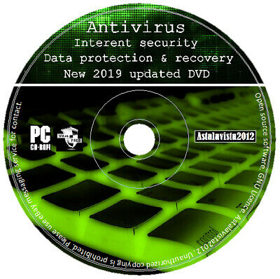 Internet Security Antivirus Spyware Trojan Removal Data Recovery Protection DVD