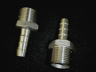 """Hb075050 Stainless Steel Hose Barb 3/4"""" Npt Pipe - 1/2"""" Hose"""