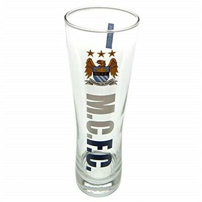 Manchester City Official Peroni Style Pint Glass - Multi-colour - Fc Tall Beer