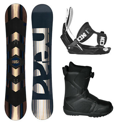 2018 HEAD Rush Snowboard+Flow Bindings+Flow BOA Boots NEW