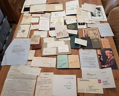 Ephemera JOBLOT Letters SIGNED Quantity INC EDWARD GOREY LETTER + Others RARE