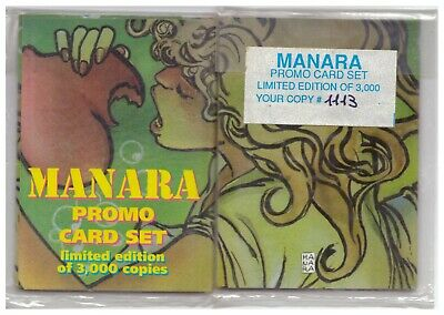 MANARA MILO SET VERDE 6 PROMO CARDS CARTE DA COLLEZIONE Limited Edition 3000