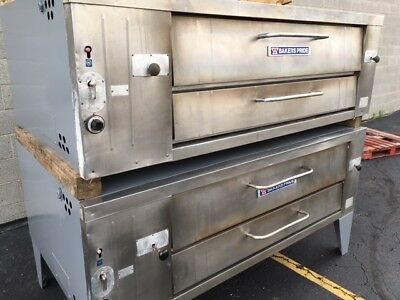 Bakers Pride Y-602 Nat Gas / Lp Double Deck Pizza Ovens 550°F Thermostat Y-600