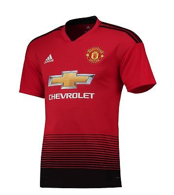 Manchester United FC Official Football Gift Mens Home Kit Shirt 2018 2019