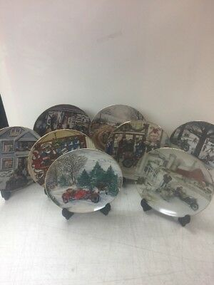 Harley-Davidson Lot of 7 different Christmas collectors plates 1984-1993