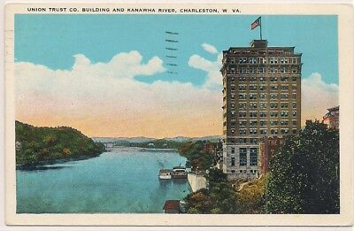 1930 Charleston Wv West Virginia Kanawha County Postcard