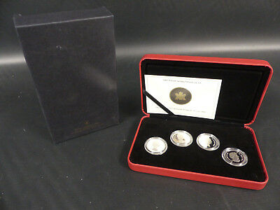 2004 Canada 50 Cents Sterling Silver 4 Coins Set
