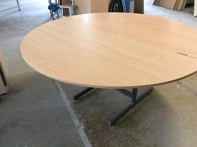 Beech Round Meeting Room Table