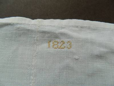 Antique huge white pure Irish linen sheet dated 1823. - 14ft long