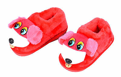 Kids Boys Girls Slippers Cute Animal Dog Warm Winter Slippers Comfortable Shoes