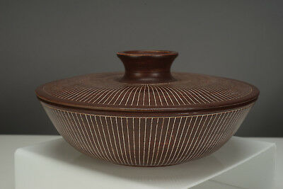 1960s Vintage Jan Helga Grove Art Pottery Lidded Bowl British Columbia Canada