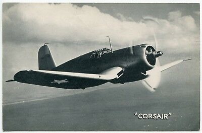 Vought F4U Corsair Airplane Vintage Military Aircraft Lithograph Print