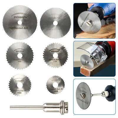 Circular Saw Disc Set Dremel Accessory Mini Drill Rotary Tool Wood Cutting Blade