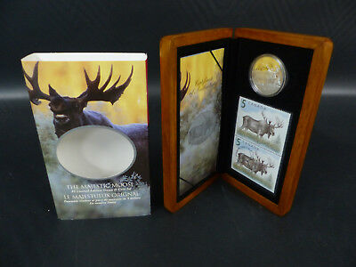 2004 Canada 5 Dollars Fine Silver Coin Set - The Majestic Moose