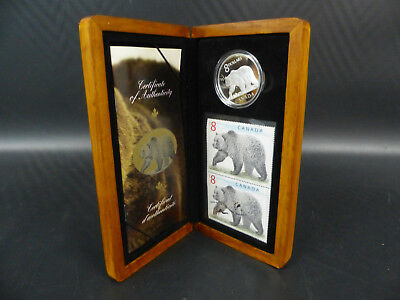 2004 Canada 8 Dollars Fine Silver Coin Set - The Great Grizzly