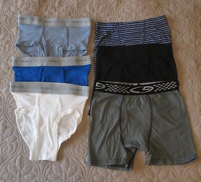 Hanes & Champion Boy's 6 Pair Tagless Boxers & Briefs - Size Small