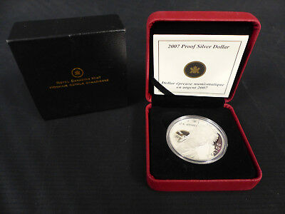 2007 Canada 1 Dollar Sterling Silver Coin