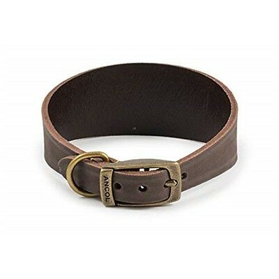 Timberwolf Whippet Leather Collar Sable 30-34cm