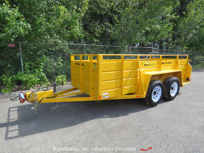 2014 Best 5X12UF Tandem Axle Utility Equipment Trailer 12'x5'ft 6,000 GVWR