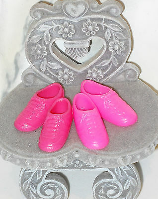 SHOES Barbie Lot of 2 Pairs Tennis Sneakers Mauve & Pink Footwear Sports Casual