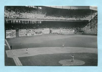 Real Photo postcard (1936 Series at Polo Grounds with Fred Fritzsimons on mound)