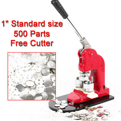 """1"""" 25Mm Badge Button Maker Press Free 500 Parts Manual Free Buttons Machine"""