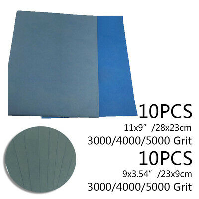 10pcs Wet and Dry Sandpaper 3000 4000 5000 Grit Abrasive Sanding Paper Sheets