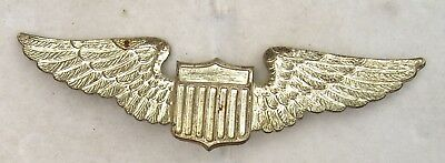 WW II USAAF Aviators Badge Sterling Silver Wings Pin Back