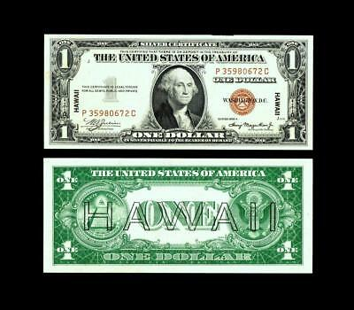 1935A $1  Hawaii Silver Certificates~ ~UNCIRCULATED