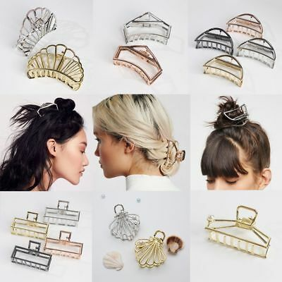 Women  Modern Stylish Hair Accessories Metal Hair Claw Clips Hairband Fashion